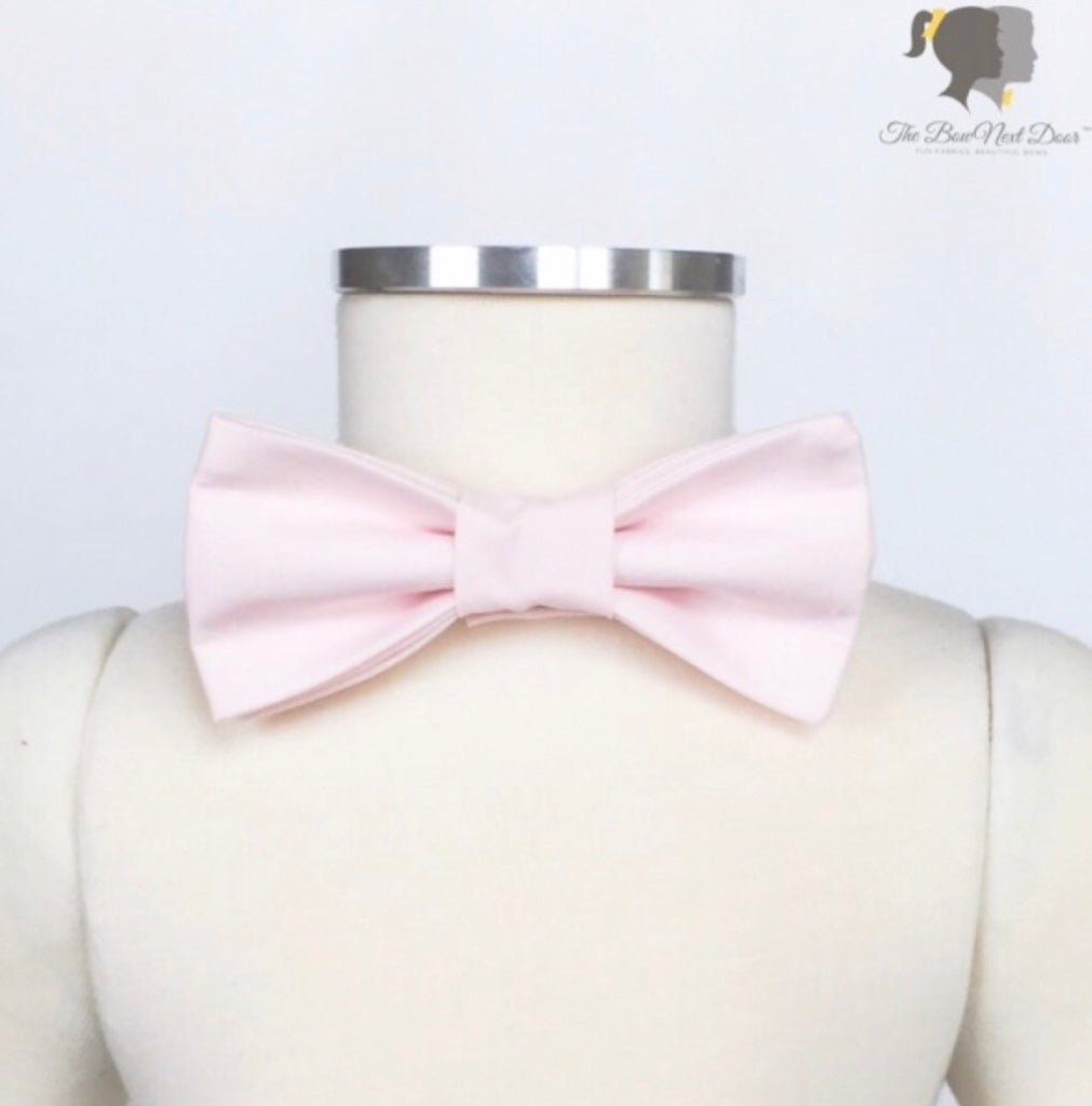 Carter Bow Tie in Ballet Pink Ballet Pink - Doodlebug's Children's Boutique