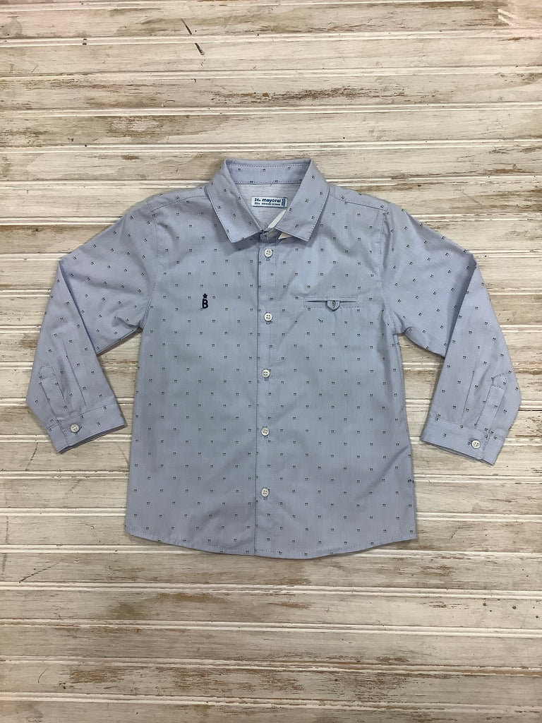 Dress Shirt in Jacquard  - Doodlebug's Children's Boutique