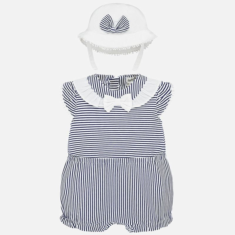 Striped Romper with Hat  - Doodlebug's Children's Boutique