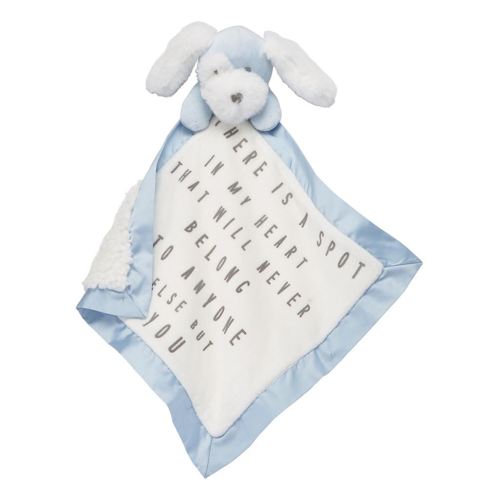 Puppy Word Velour Woobie Puppy / There is a spot in my heart that will never belong to anyone else but you - Doodlebug's Children's Boutique