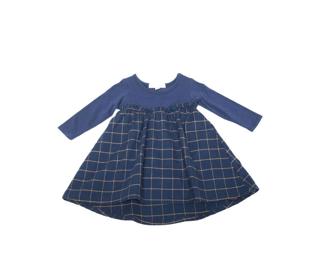 The Remix Dress In Twilight Blue Mix  - Doodlebug's Children's Boutique
