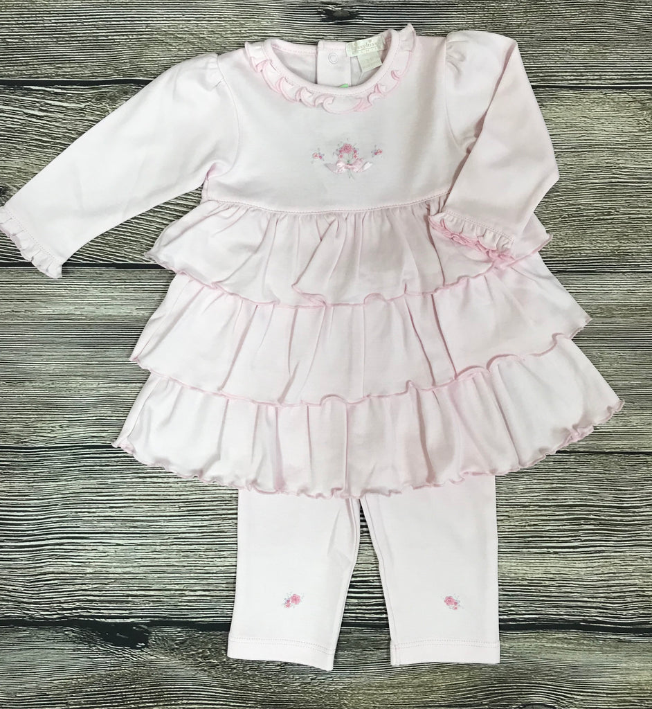 Kissy Kissy Pink Scattered Flowers Dress Set