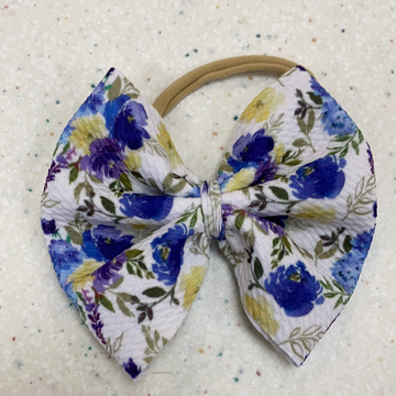 Floral Bow on Nylon