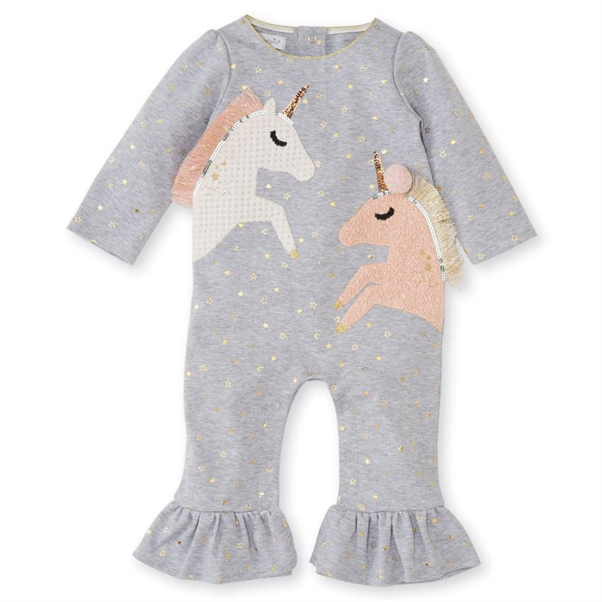 Mud Pie Unicorn Ruffle One-Piece