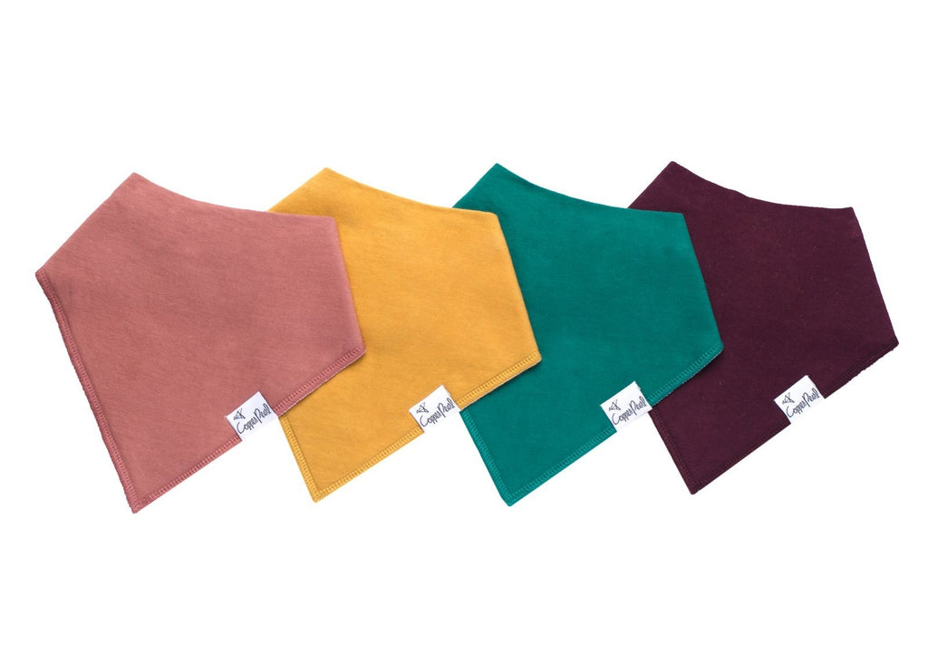 Copper Pearl 4-Pack Bandana Bibs Jade - Doodlebug's Children's Boutique