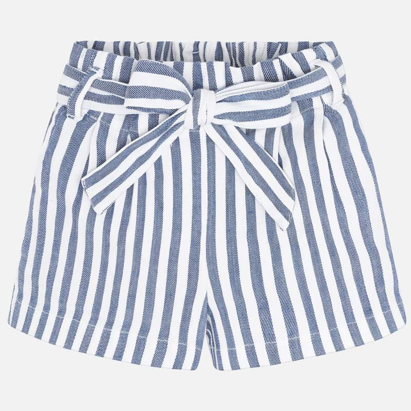 Blue Stripe Shorts  - Doodlebug's Children's Boutique