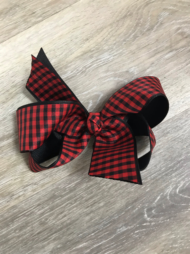 Small Buffalo Plaid Bow Small Buffalo Plaid - Doodlebug's Children's Boutique