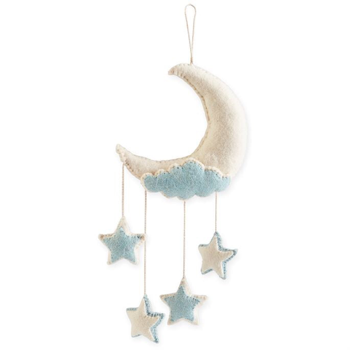 Blue Moon Wool Wall Hanging Blue - Doodlebug's Children's Boutique