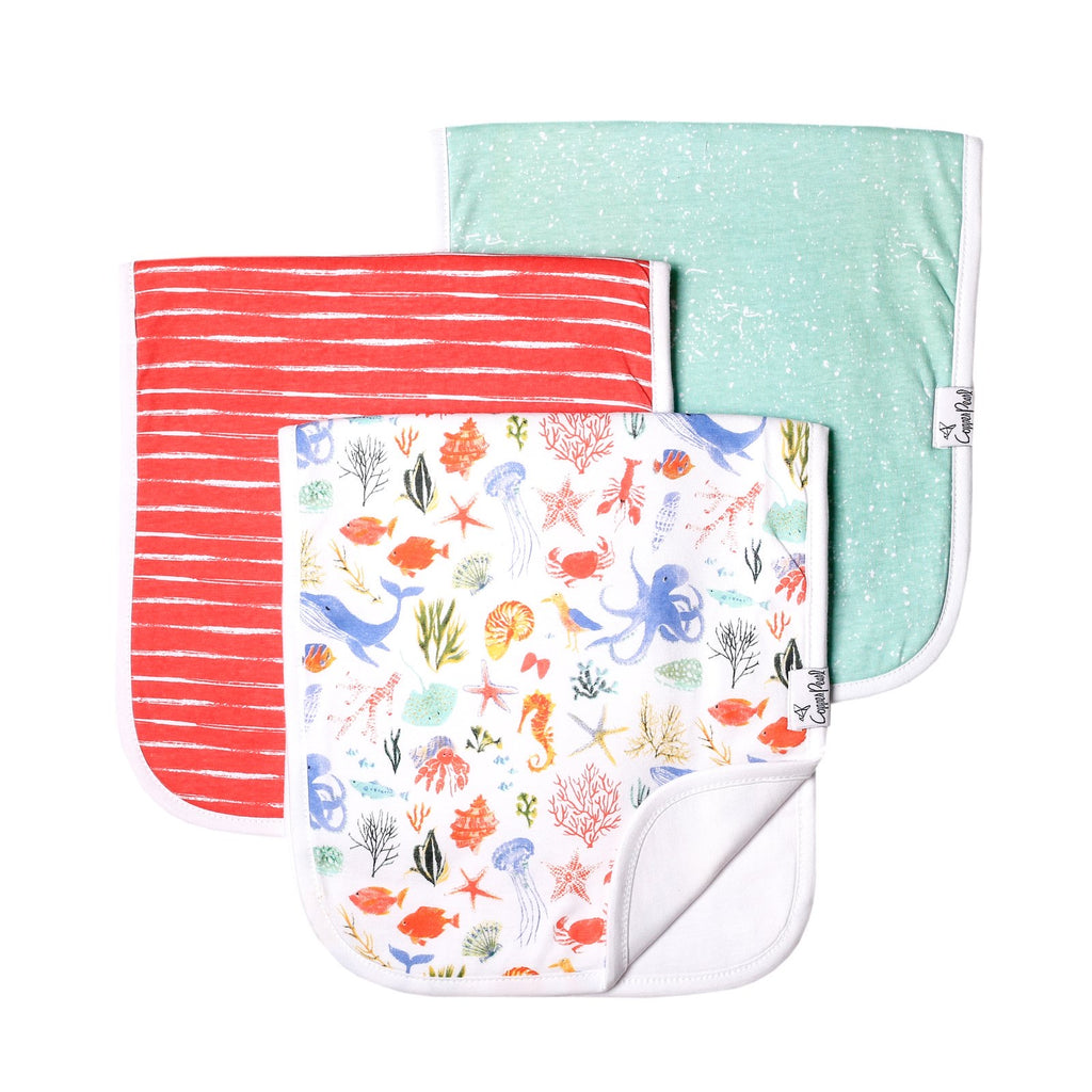 Nautical 3 Pack Premium Burp Cloths  - Doodlebug's Children's Boutique