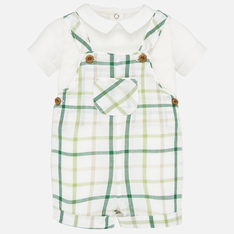 Plaid Overall Set  - Doodlebug's Children's Boutique