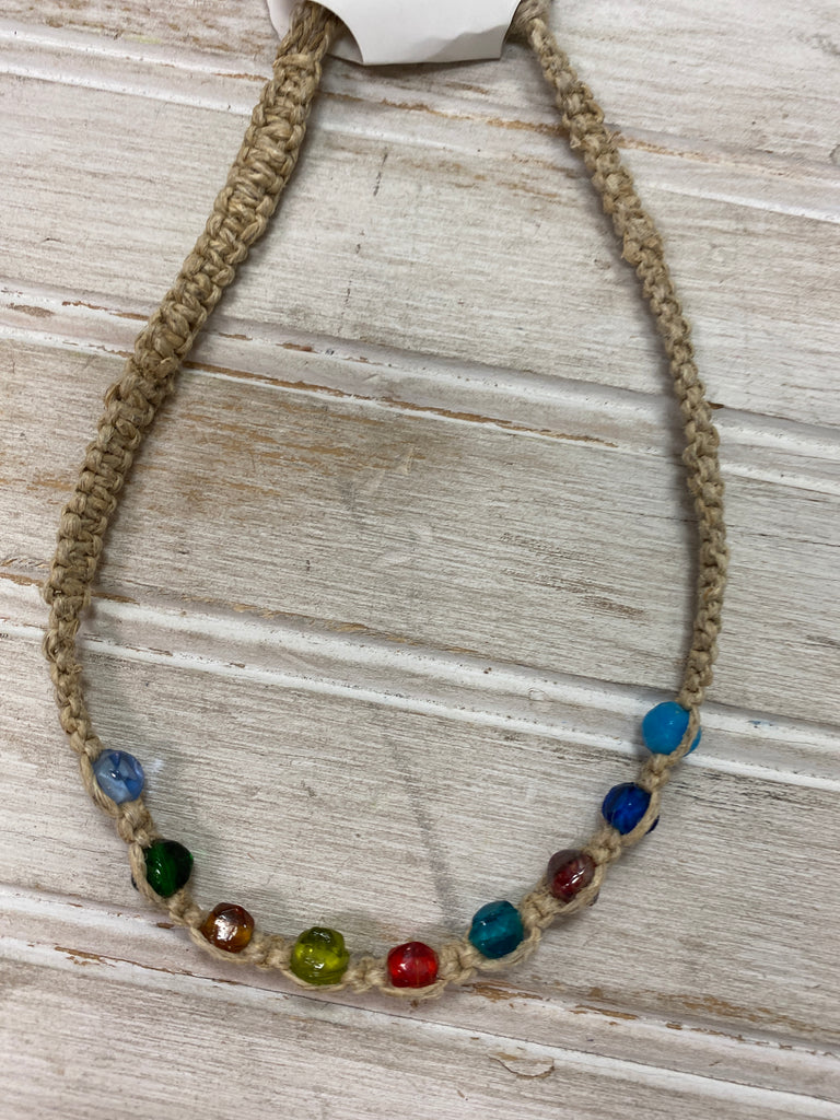 Assorted Necklaces Woven Multi Color Beads - Doodlebug's Children's Boutique