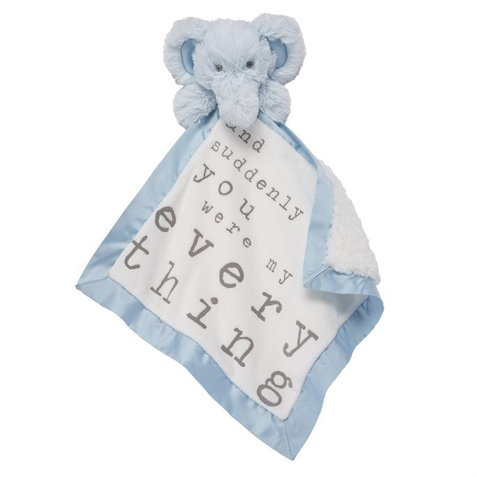 *IMPERFECT* Elephant Word Velour Woobie  - Doodlebug's Children's Boutique