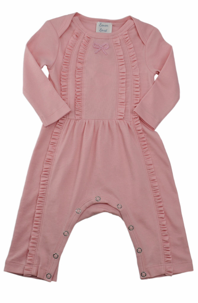 Victoria Romper in Rose Shadow Rose Shadow / 0-3 months - Doodlebug's Children's Boutique