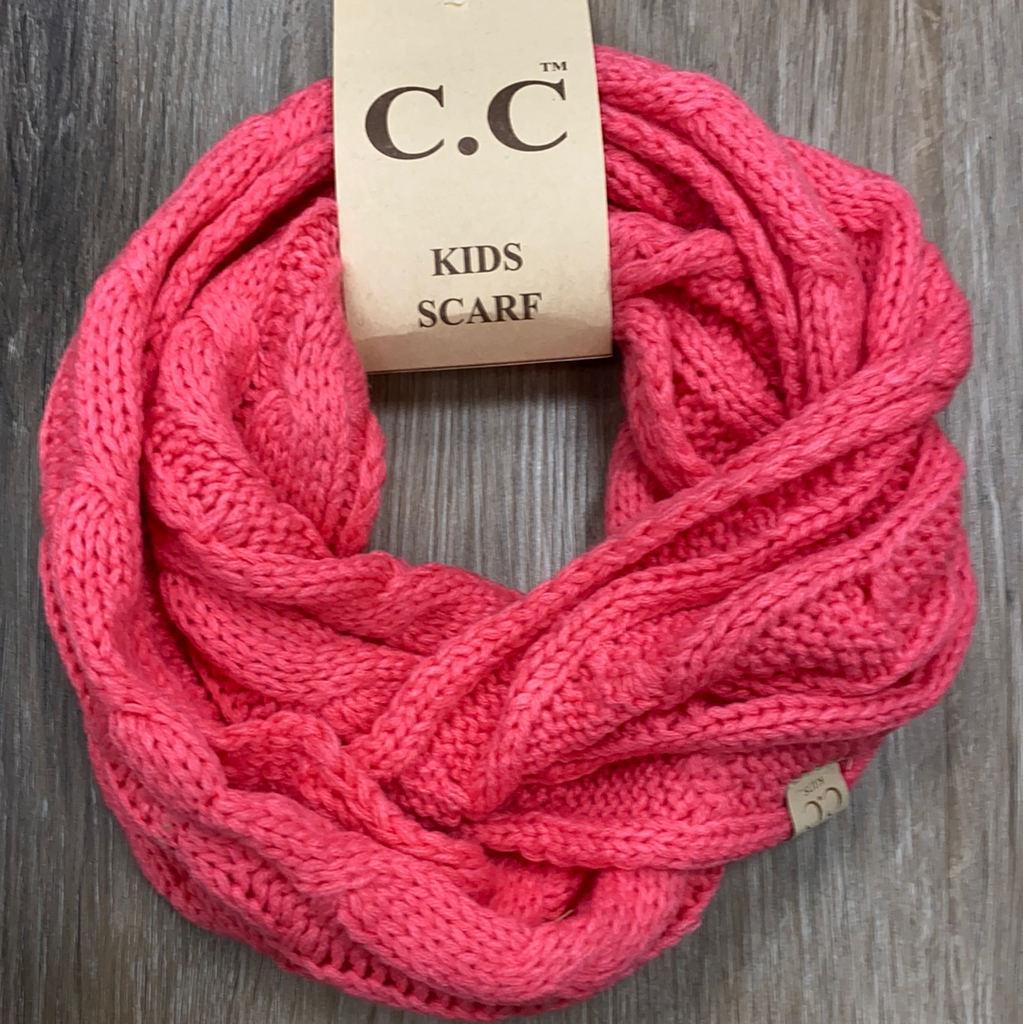 Kids Infinity Scarf in New Candy Pink  - Doodlebug's Children's Boutique