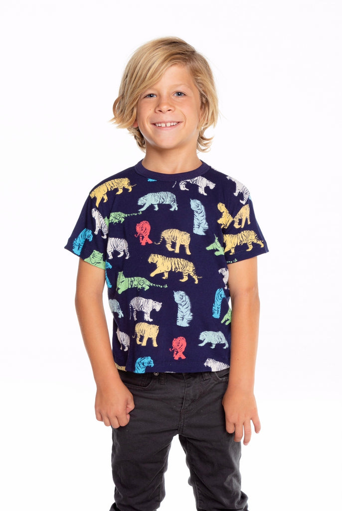 Tiger Gauzy Cotton Short Sleeve Tee  - Doodlebug's Children's Boutique