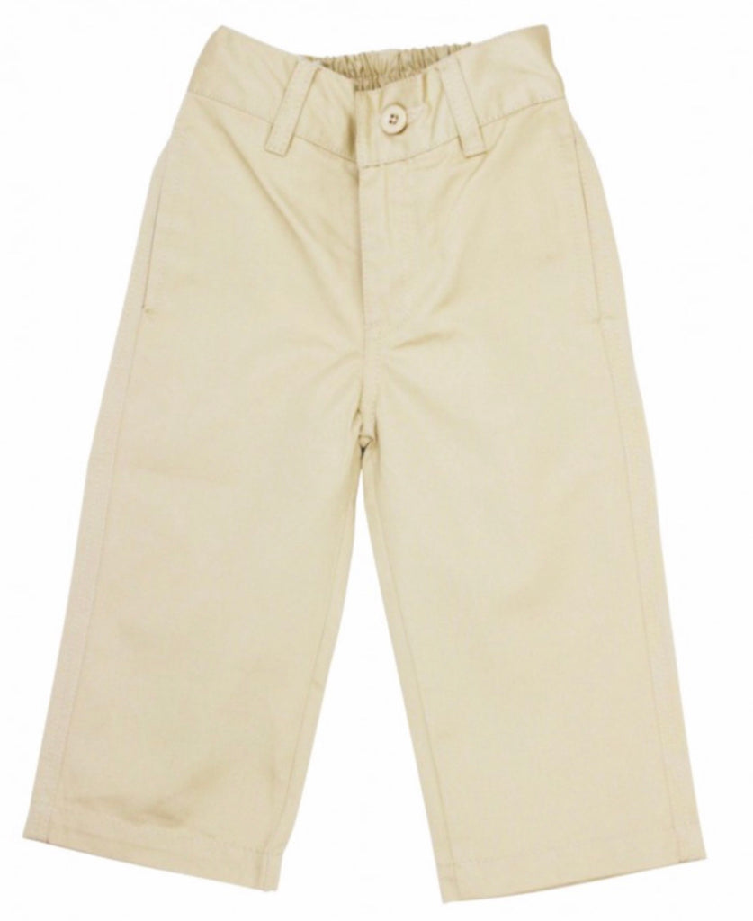 Khaki Straight Chino Pants  - Doodlebug's Children's Boutique