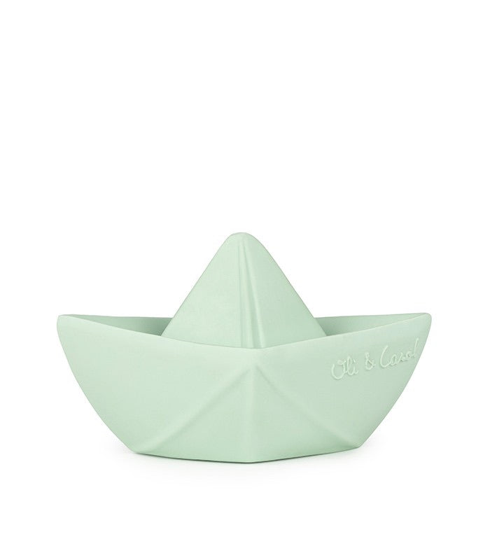 Mint Origami Bath Boat  - Doodlebug's Children's Boutique