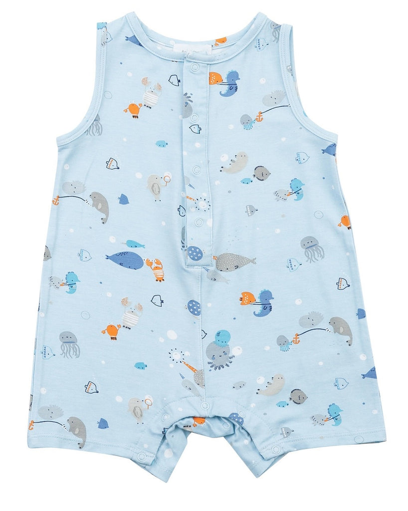 Romper in Happy Ocean  - Doodlebug's Children's Boutique
