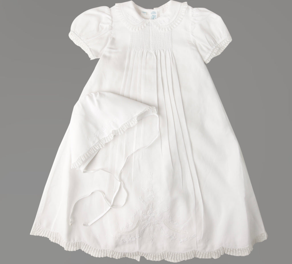 Girls Lace Collar Special Occasion Gown Set  - Doodlebug's Children's Boutique