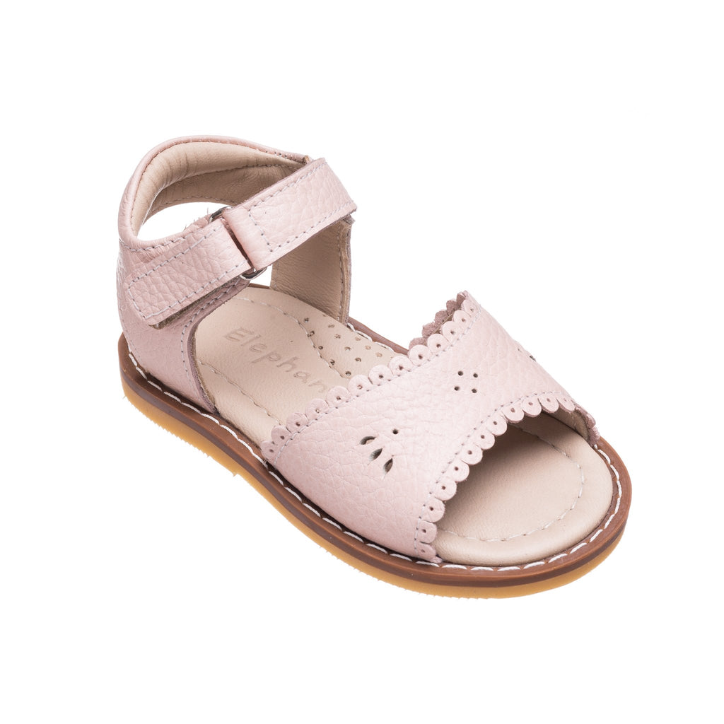 Classic Pink Sandal with Scallop  - Doodlebug's Children's Boutique