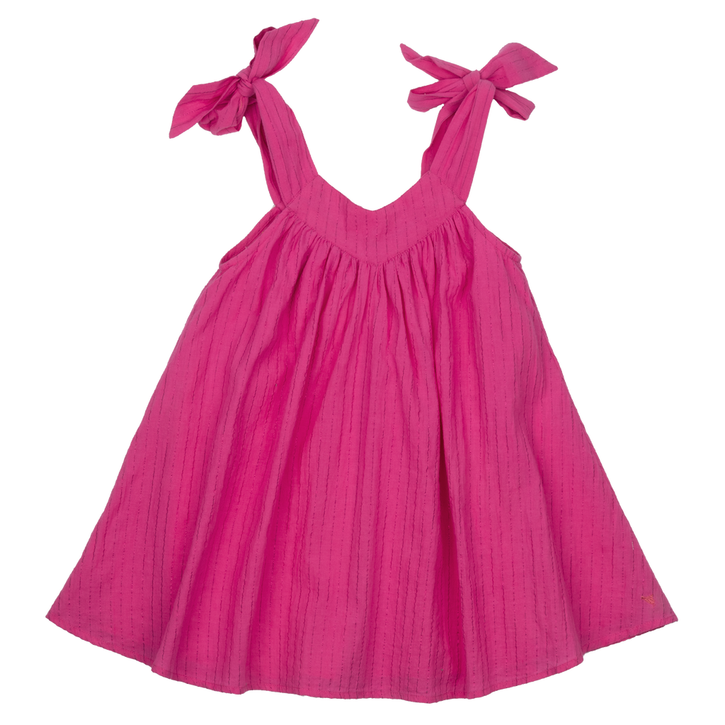 Frida Dress in Shocking Pink  - Doodlebug's Children's Boutique