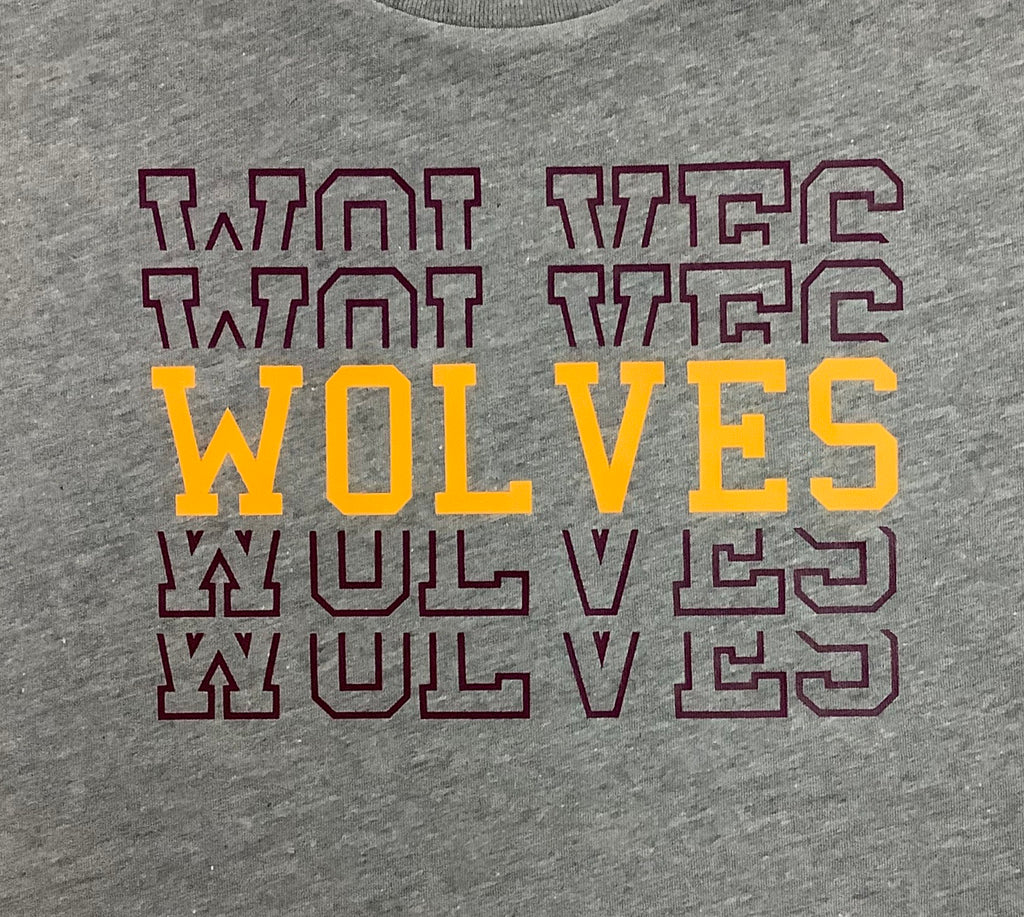 Wolves Repetitive Tee  - Doodlebug's Children's Boutique