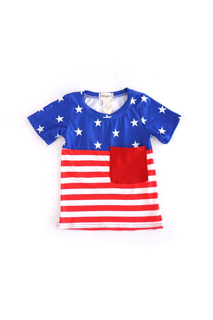 Stars and Stripes Tee  - Doodlebug's Children's Boutique