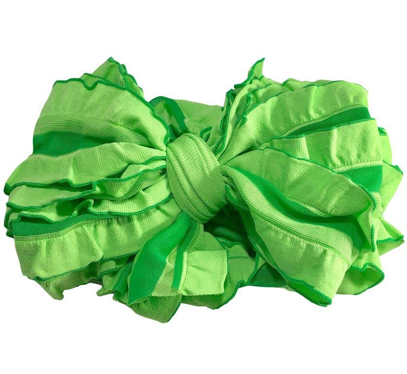 Kelly Green Stripe Headband  - Doodlebug's Children's Boutique