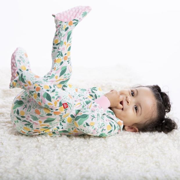 Lemon Verbena Magnetic Modal Footie  - Doodlebug's Children's Boutique