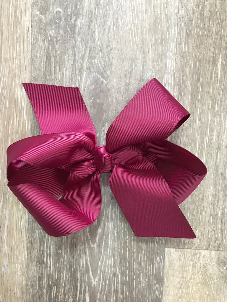 Maroon Large Solid Hair Bow Maroon - Doodlebug's Children's Boutique