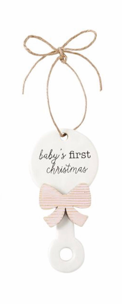Pink First Christmas Ornament Girl - Doodlebug's Children's Boutique