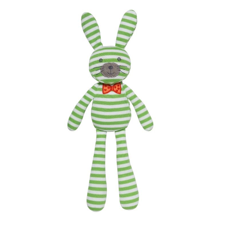 Green Stripes Spring Bunny  - Doodlebug's Children's Boutique