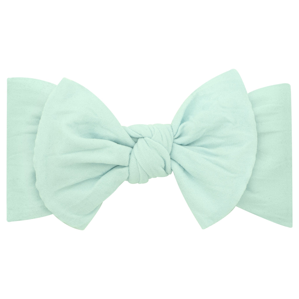 Mint Nylon Bow Headband Mint / 6-24 months - Doodlebug's Children's Boutique