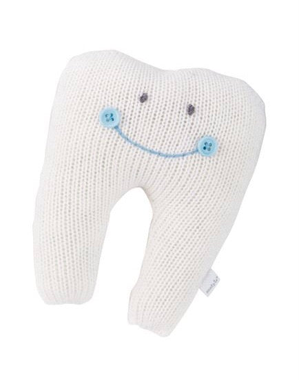 Ivory and Blue Boy Tooth Fairy Pillow Ivory and Blue - Doodlebug's Children's Boutique
