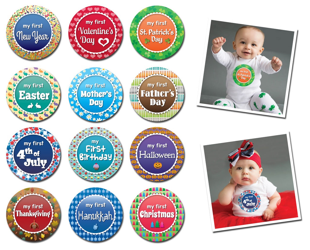 Happiest Holidays Milestone Sticker Set Happiest Holidays - Doodlebug's Children's Boutique