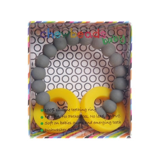 Stormy Grey Mulberry Teether  - Doodlebug's Children's Boutique