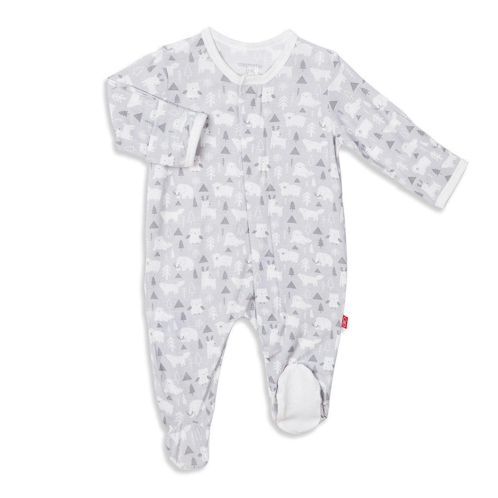 Denali Magnetic Modal Footie Preemie - Doodlebug's Children's Boutique