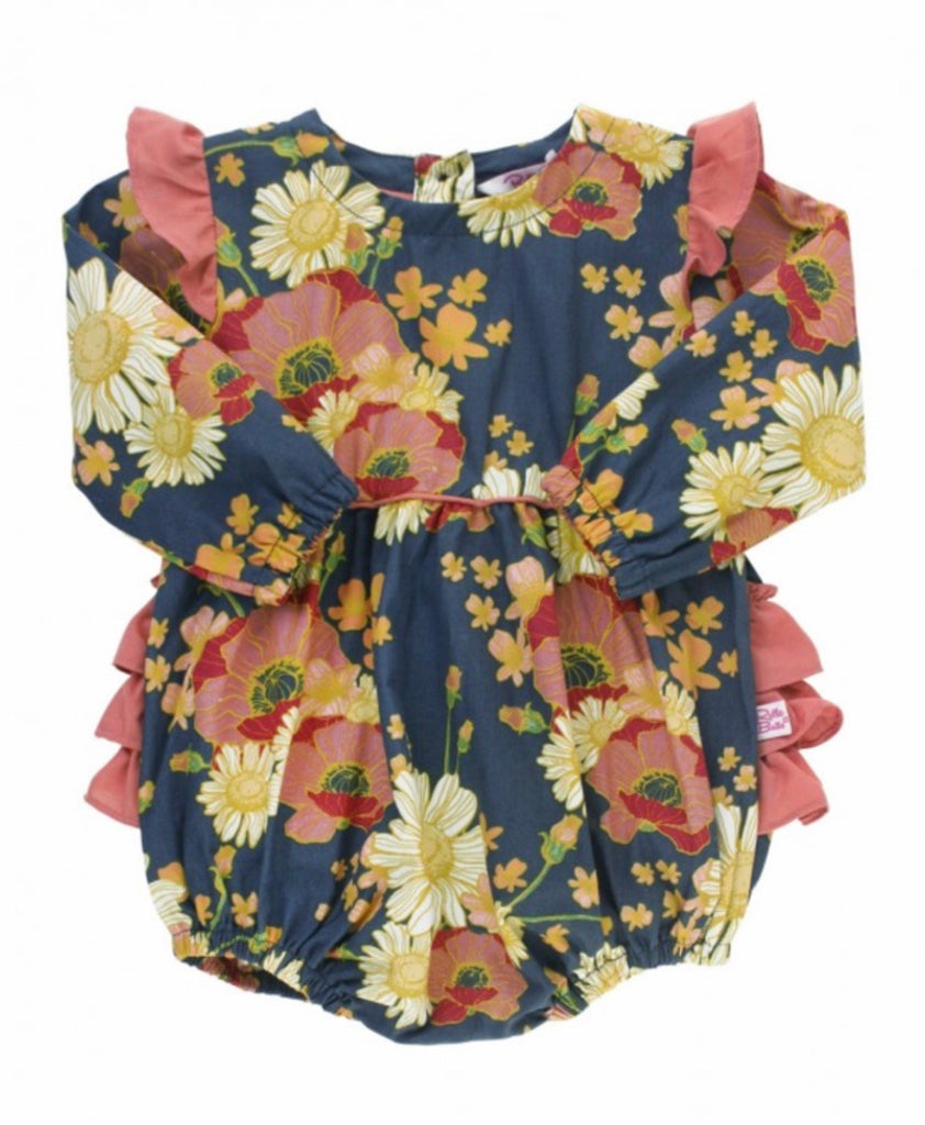 Ruffle Butts Blossom Bliss Flutter Bubble Romper