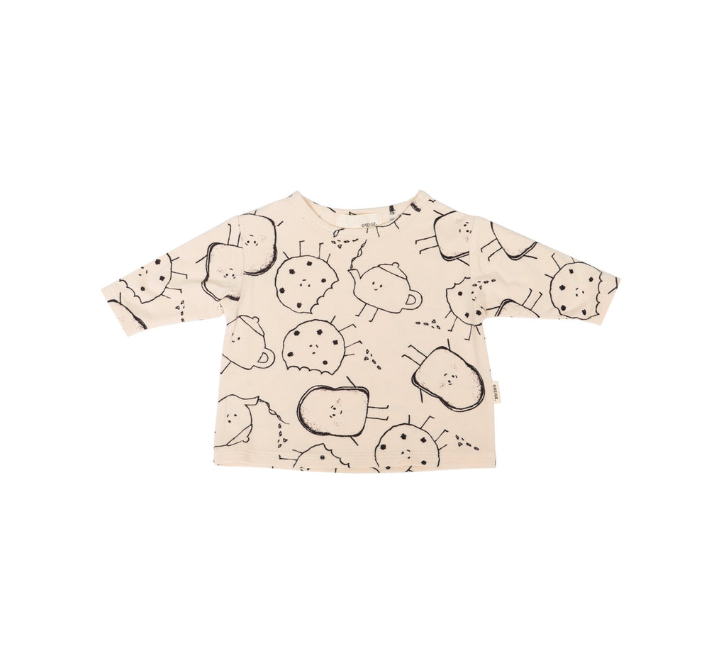 The Buddies Tee In Black & Cream Mix  - Doodlebug's Children's Boutique