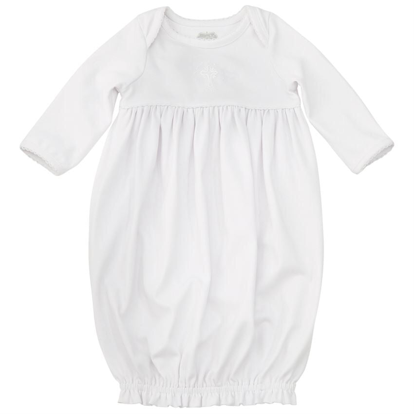 Mud Pie French Knot Christening Gown