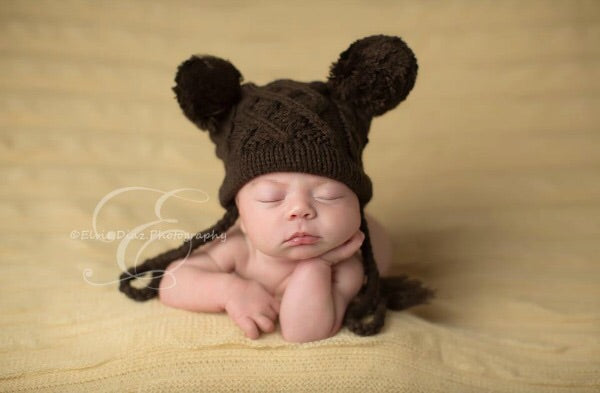 Brown Jordan Hat 0-6 months - Doodlebug's Children's Boutique