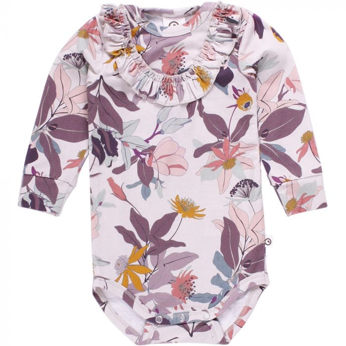 Long Sleeve Dahlia Bodysuit in Marble  - Doodlebug's Children's Boutique
