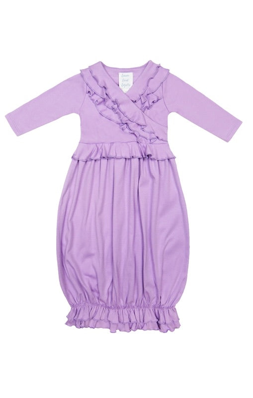 Jenna Gown in Sheer Lilac Sheer Lilac / 0-3 months - Doodlebug's Children's Boutique