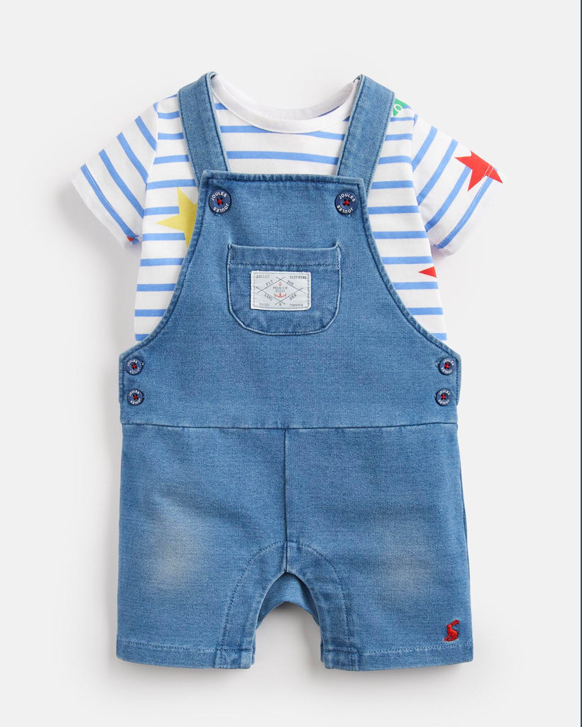 Joules Duncan Denim T-Shirt and Dungarees Set