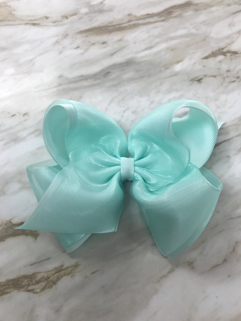 Christalline King Organza Overlay Bow  - Doodlebug's Children's Boutique