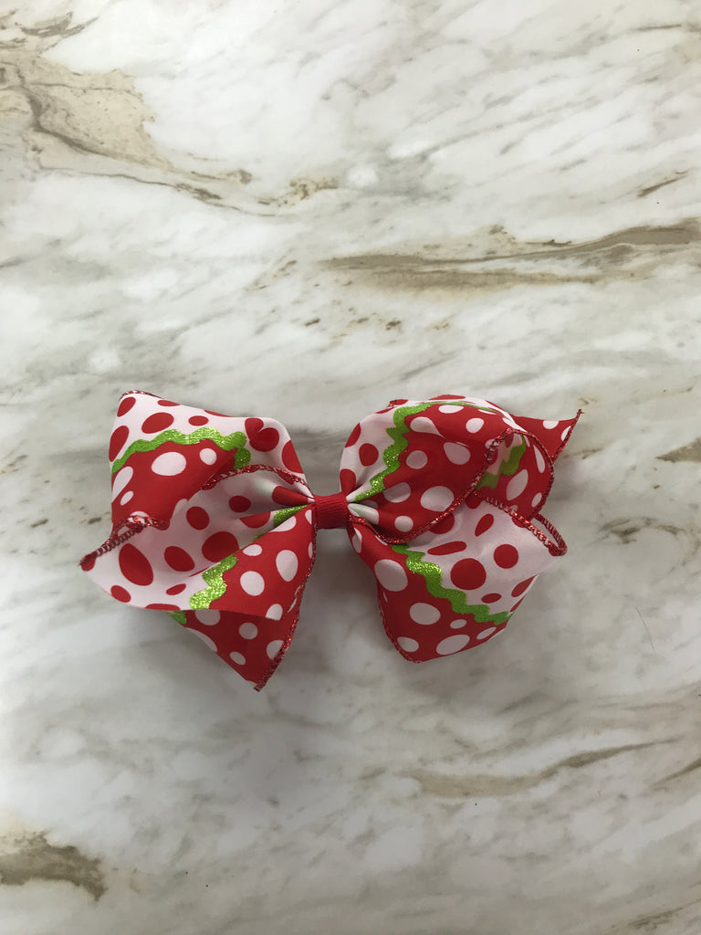 Christmas Dots Large Bow Christmas Dots - Doodlebug's Children's Boutique
