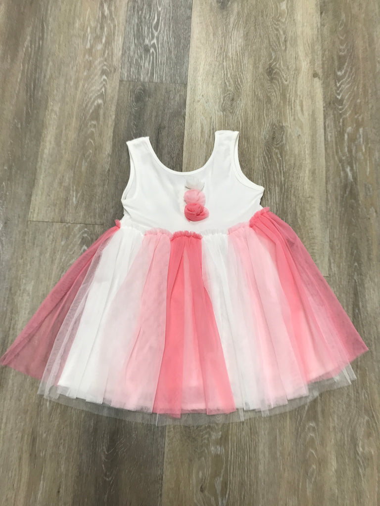 Tulle Pom Dress  - Doodlebug's Children's Boutique