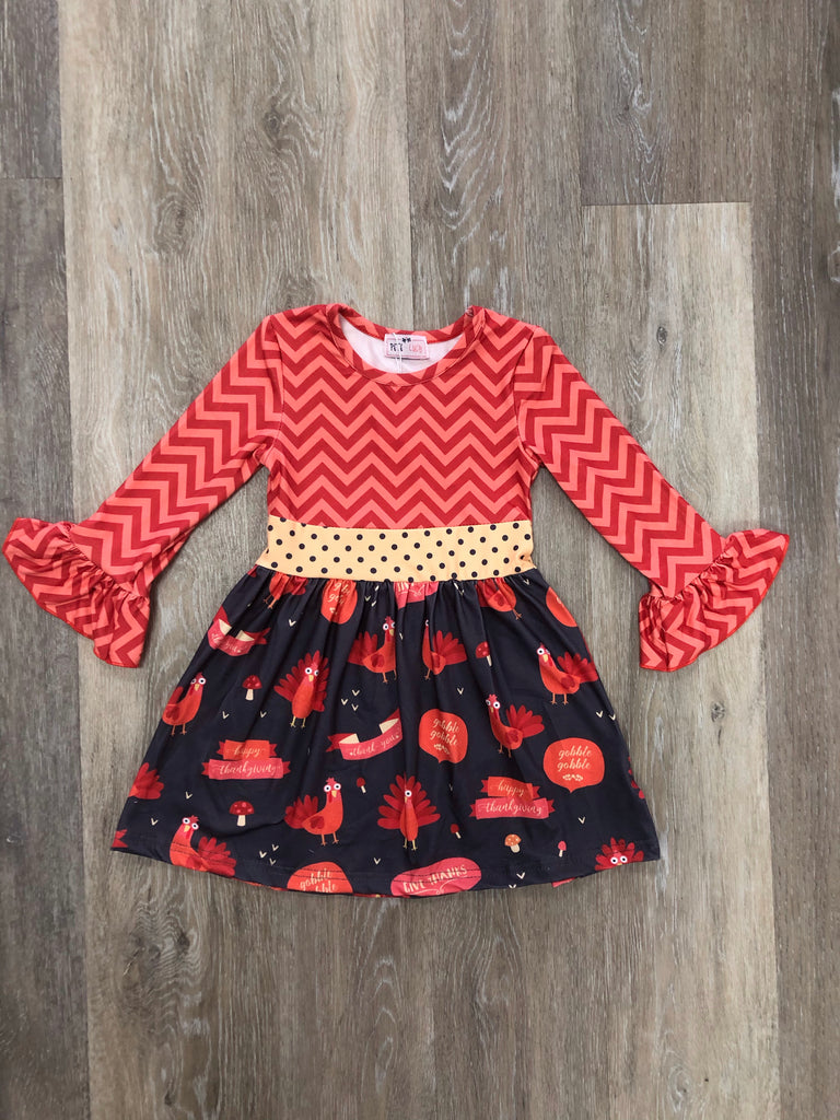 Pete + Lucy Thanksgiving Dress  - Doodlebug's Children's Boutique