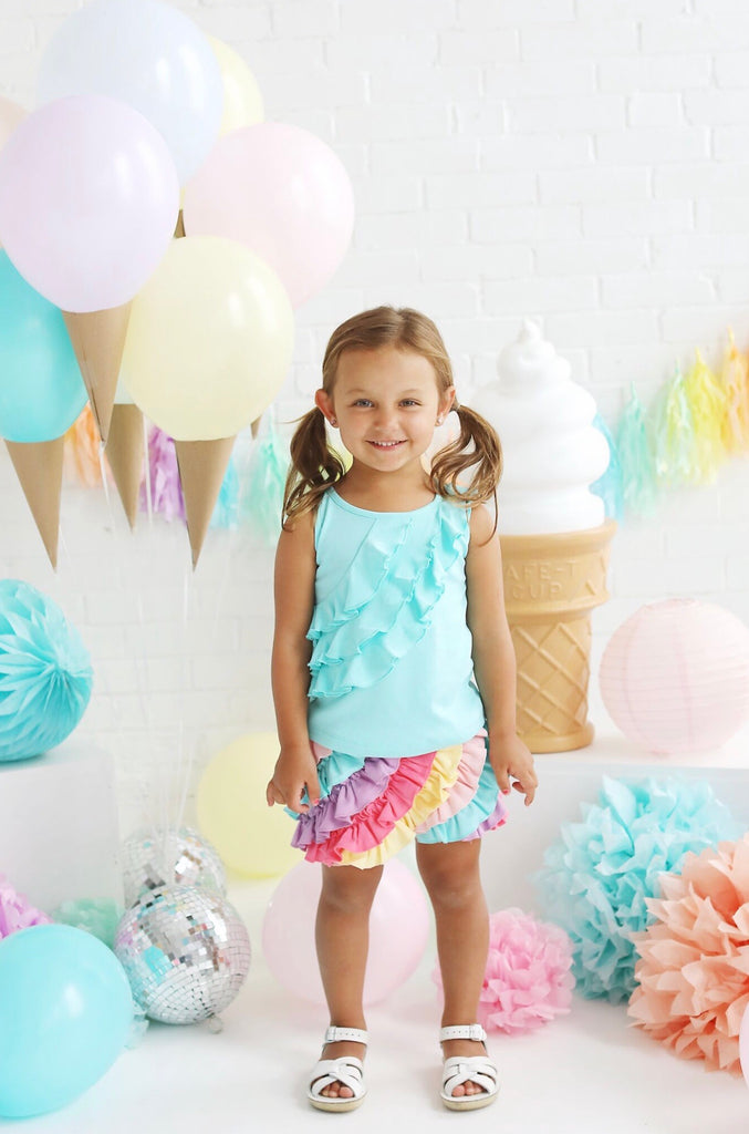 Lemon Loves Lime Ruffle Set  - Doodlebug's Children's Boutique