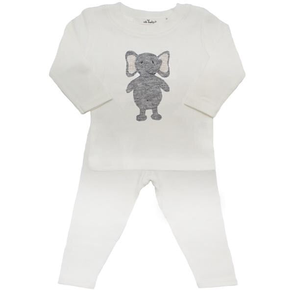 Ragdoll Fuzzy Elephant Top and Pant Set  - Doodlebug's Children's Boutique